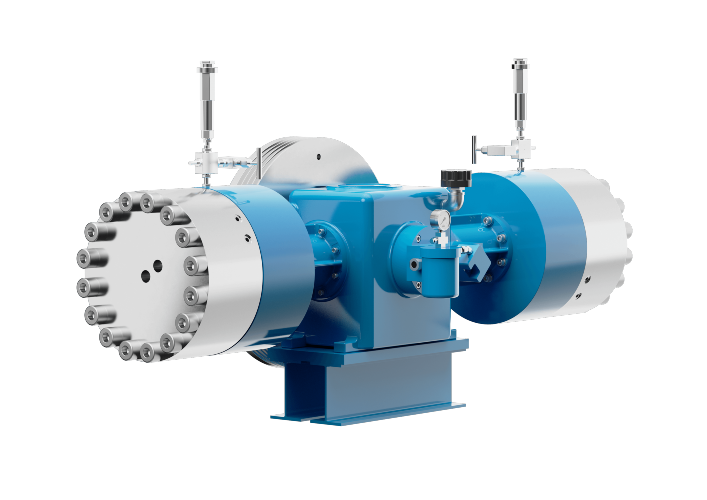 Oil-free diaphragm compressor for compressing process gas