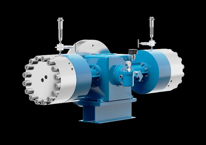 Compresor de diafragma exento de aceite para comprimir gas de proceso