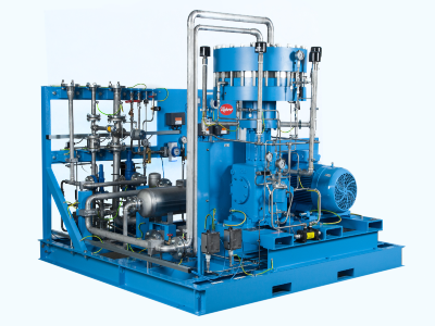 Diaphragm compressor for toxic gas