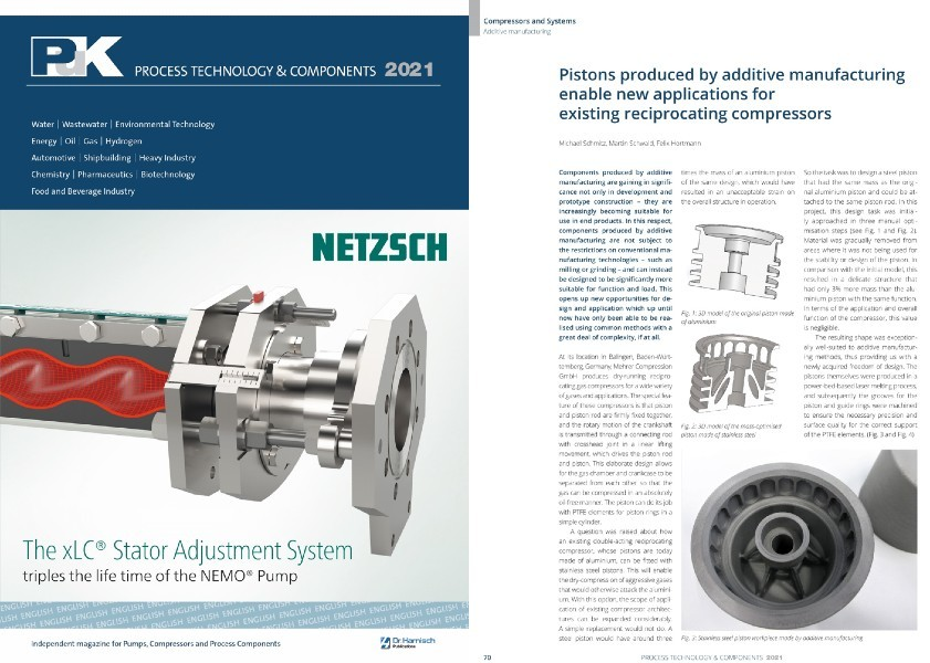 PUK specialist article excerpt from Mehrer for additive manufacturing