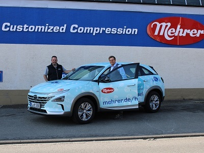 Mehrer focuses on state-of-the-art mobility with new hydrogen vehicle