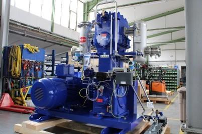 Установка по переработке биогаза с мойкой водой под давлением