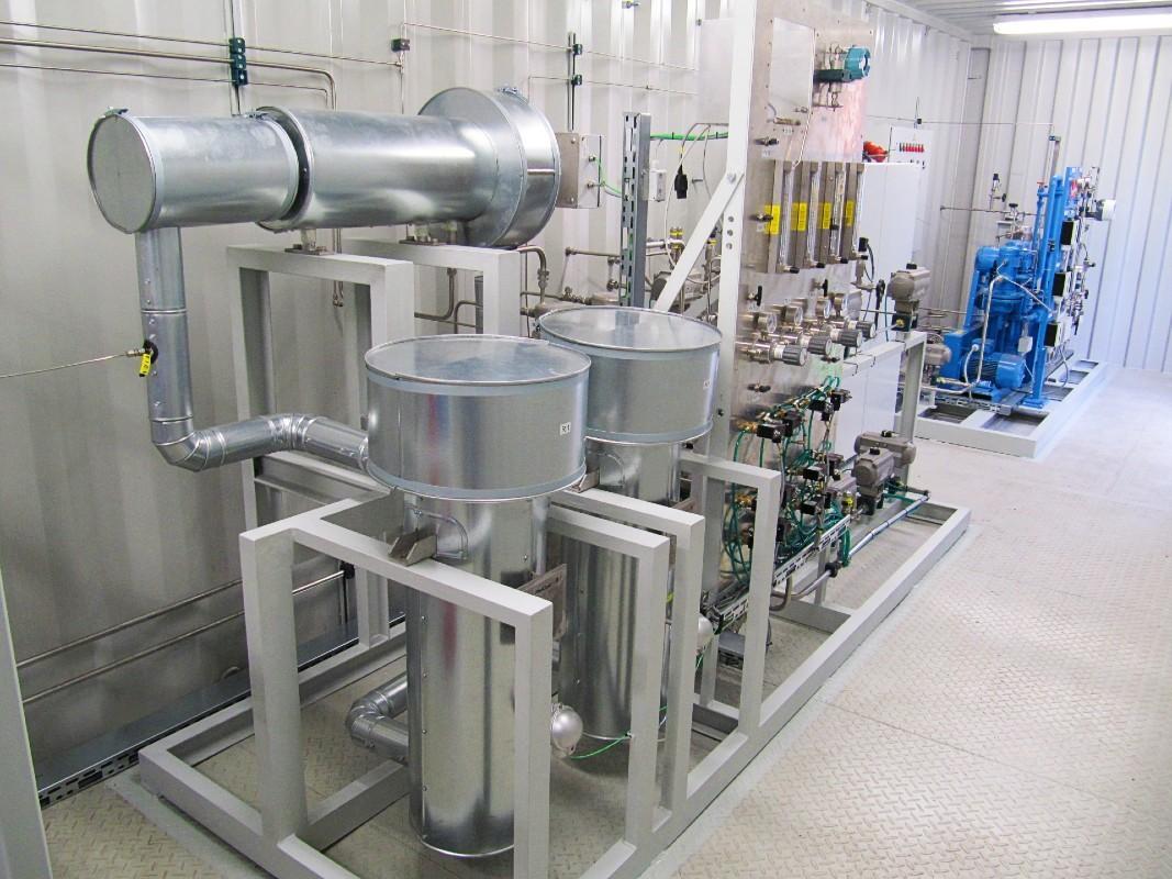 Установлен компрессор СУГ в приложении для перекачки газа из сжиженного газа