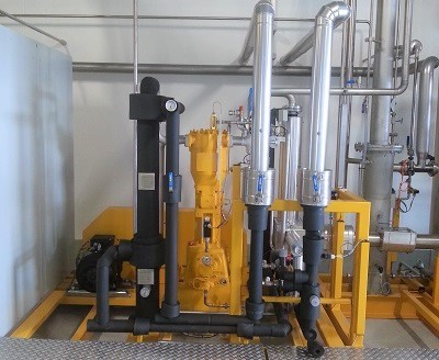 Compressor unit for CO2 recovery in the brewery process