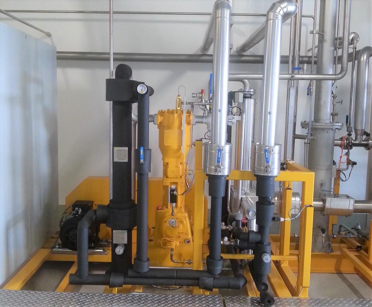 啤酒厂过程中用于二氧化碳回收的压缩机单元
