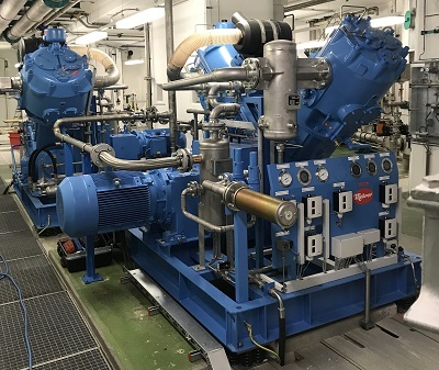Use of the Mehrer Piston compressor in the hydropower plant