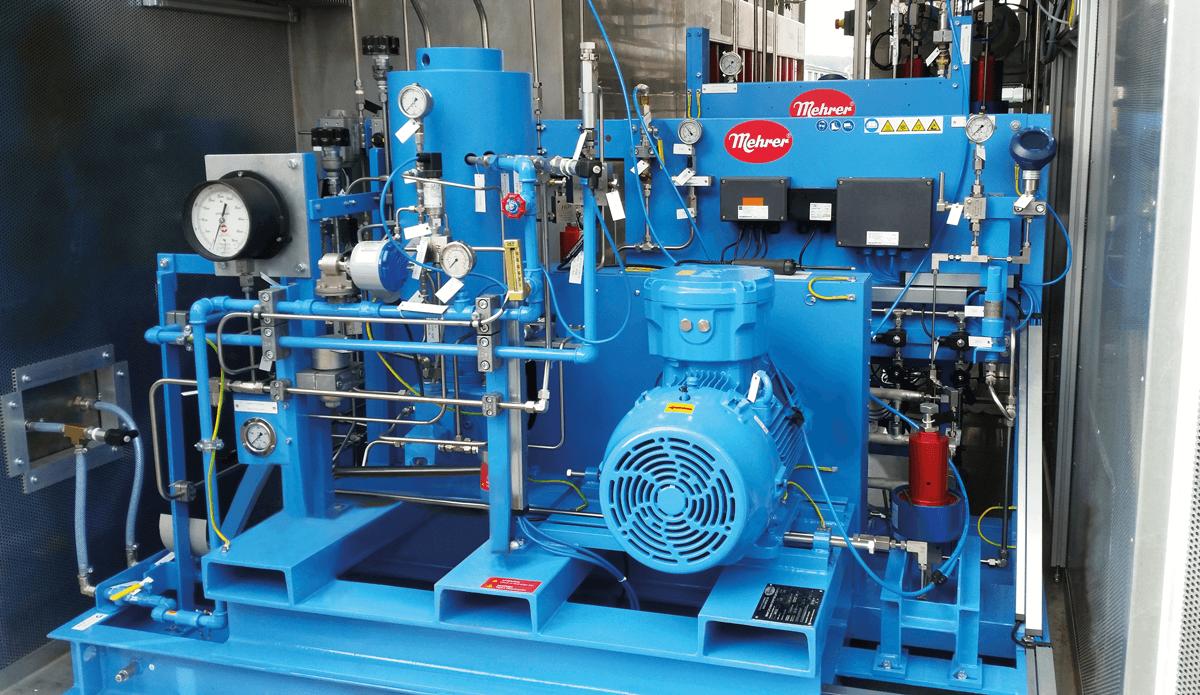 隔膜压缩机,用于压缩电解氢