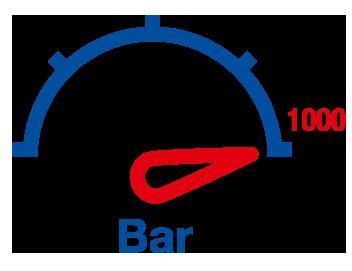 High pressure display 1000 bar