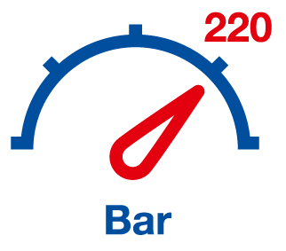 High pressure display 220 bar
