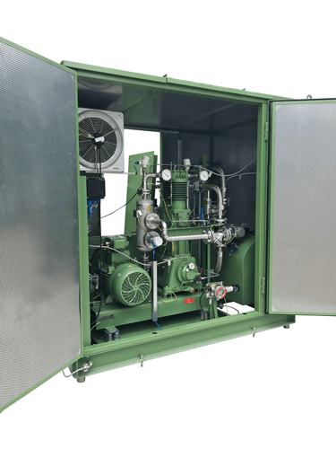 Reciprocating compressor as gas transfer solution