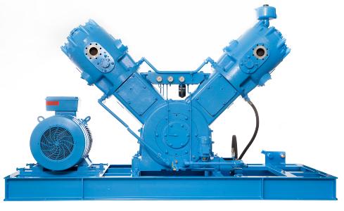 Compresor refrigerado por agua de una, dos y tres etapas