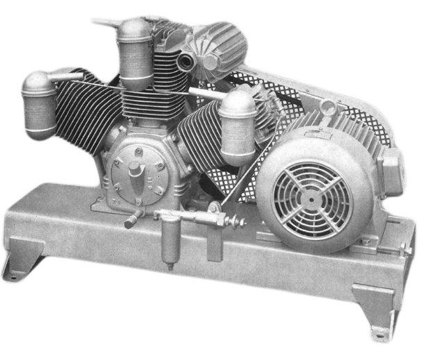 Reciprocating compressor from 1916