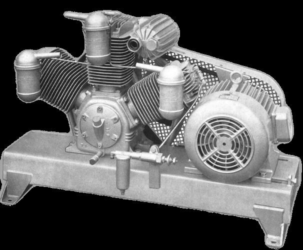 Compresor alternativo de 1916